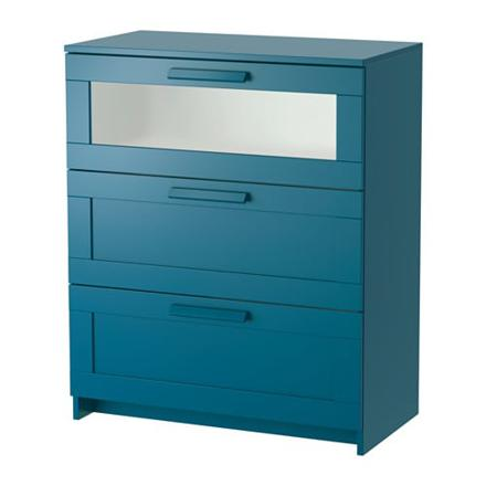 commode bleu