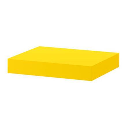 etagere murale jaune