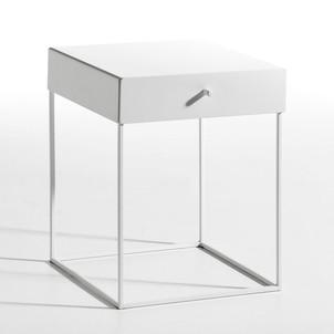 table chevet blanc