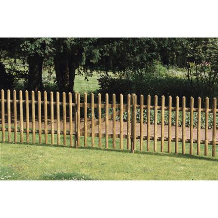 barrière bois jardin