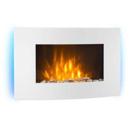 cheminee electrique blanche