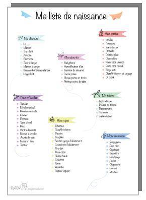 comment faire une liste de naissance