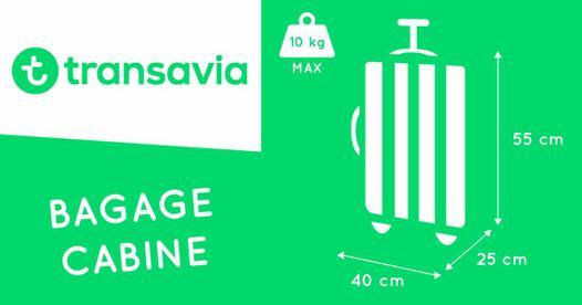 dimension bagage cabine transavia