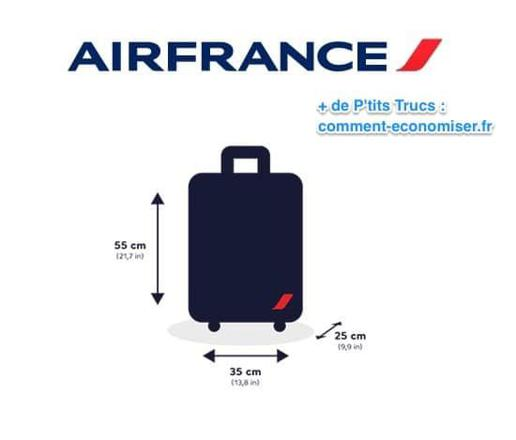 dimension bagage main air france