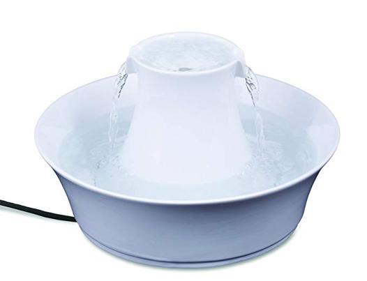 fontaine a eau chat ceramique