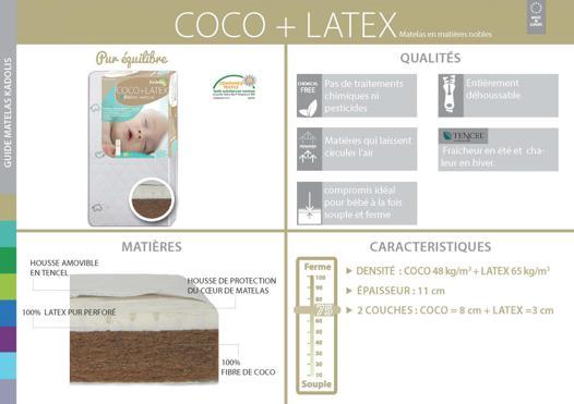matelas coco latex