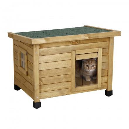 niche chat extérieur