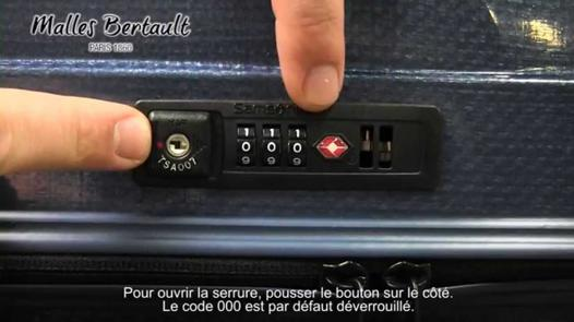ouverture valise samsonite