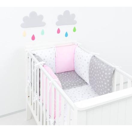 tour de lit bébé rose