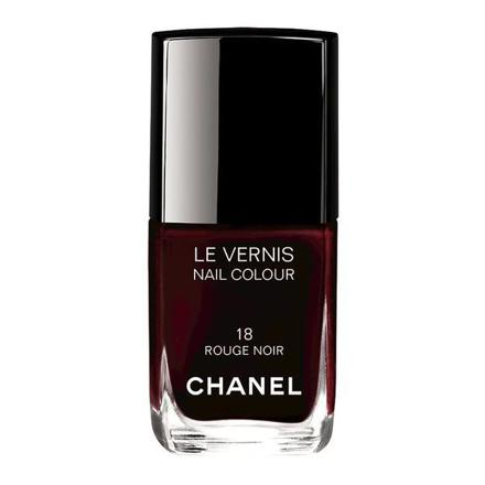 chanel vernis rouge noir