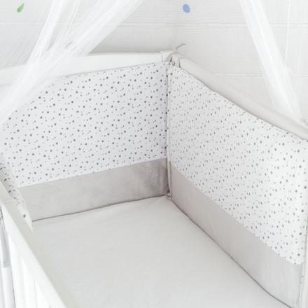 tour de lit bébé gris