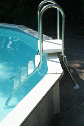 echelle pour piscine enterrée
